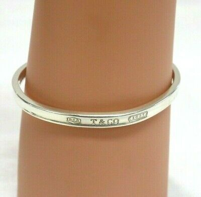 Authentic Tiffany & Co. 1837 Bangle Sterling Silver 925