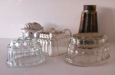 vintage glass jelly mould collection (5)