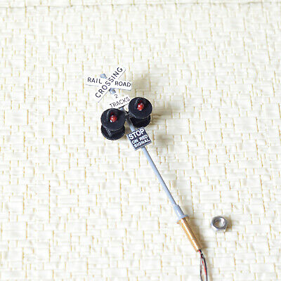 1 x OO / HO scale railroad crossing signal 4 LEDs + circuit board flasher #2GR4X