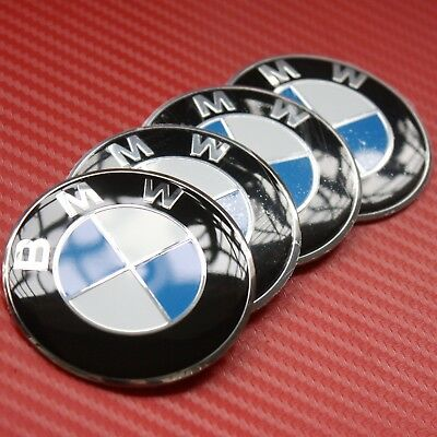 4pcs 56mm Wheel Center Hub Caps Emblem Blue/White Badge Decals Stickers For BMW
