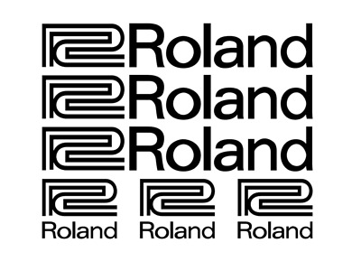 6x Logo ROLAND - Pack of Adhesive Vinyl Stickers Decal
