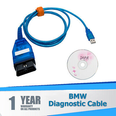 USB OBD2+Dcan Diagnostic Cable Switched For BMW INPA DIS SSS NCS Coding ISTA UK