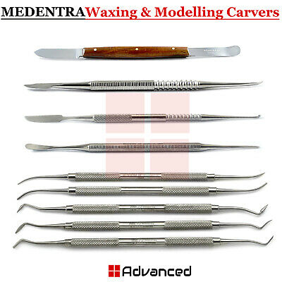 Dental Waxing Carvers PK Thomas, Zahle, Beale, Lecron, Fahen Wax Knife Lab Tools