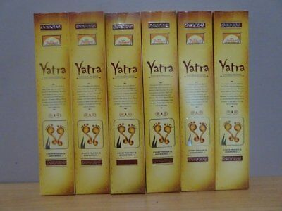 Yatra Natural Incense 6 Packs x 15g Sticks   Free Post AU