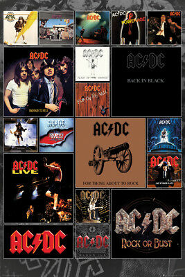 AC/DC Covers Music Rock Maxi Poster Print 61x91.5cm | 24x36 inches