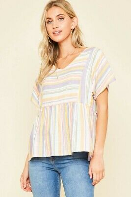 The Emma Baby Doll Top NWT- Size L