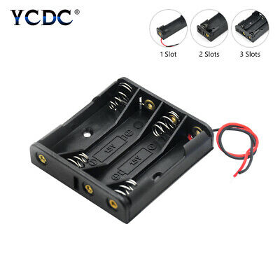 ABS Battery Holder AAA Cell Storage Box With Cable Lead Arduino Power Supply 85