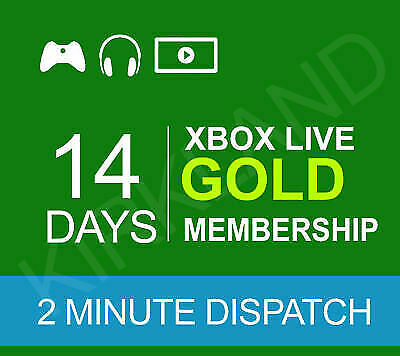 Xbox Live Gold 14 Day 2 Weeks Xbox Gold Trial Code Instant Delivery Uk