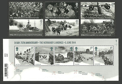 Gb 2019 D-Day Normandy Landings Military Ships Aircraft Tanks Set & M/Sheet Mnh