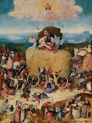Hieronymus Bosch Hay Wain Old Master Art Painting Print Poster 1364Om