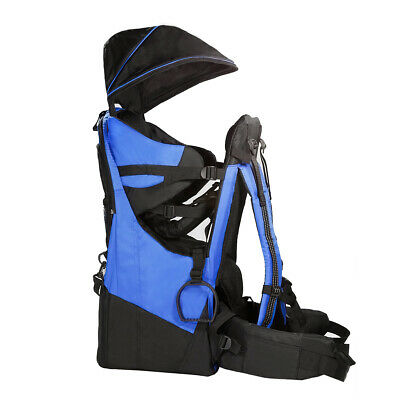 Deluxe Adjustable Baby Carrier Outdoor Light Hiking Child Backpack Camping, Blue