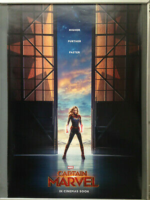 Cinema Poster: CAPTAIN MARVEL 2019 (Advance One Sheet) Brie Larson Jude Law