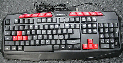 97c6f7aff7e IBUYPOWER GKB100 Gaming Wired USB Keyboard, Red Switches