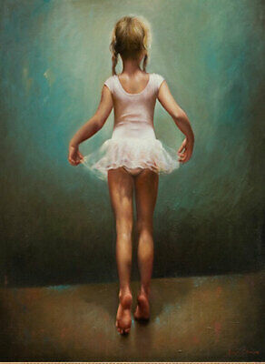 LMOP1010 Ballet girl portrait hand painted oil painting on canvas wall art