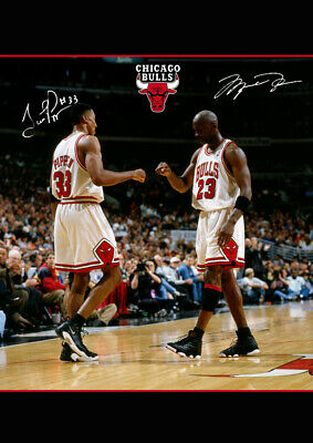 Michael Jordan & Scottie Pippen Art HD Print Poster Photo Decor 24x34""