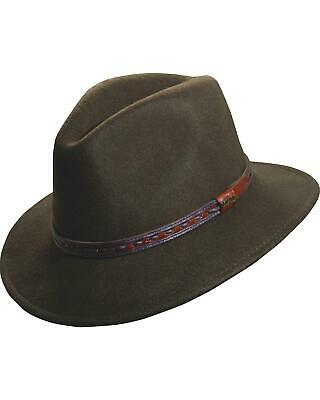 9f9486be SCALA CRUSHABLE WOOL Outback Hat - DF105 KHAKI - $45.66 | PicClick