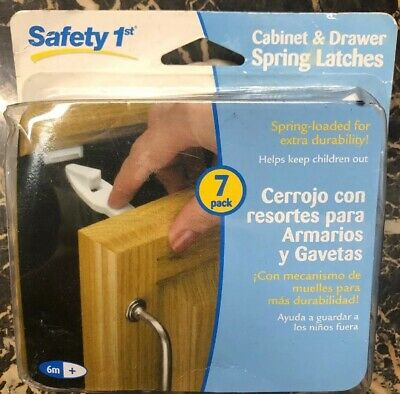 Safety 1st Cabinet and Drawer Spring Latches 7 Pack 48439 New