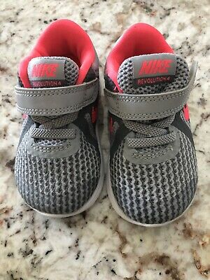 df7669ad8 NIKE INFANT BABY Sneakers Red Navy Blue White Shoes 312982-161 Sz 4C ...