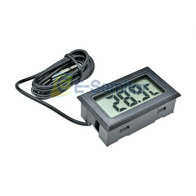 For Aquarium Digital LCD Probe Freezer Fridge Kitchen Thermometer Thermograph