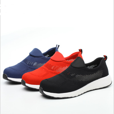 Men women Safety Shoes Mesh Ultralight Breathable On Steel Toe Cap Work Trainers