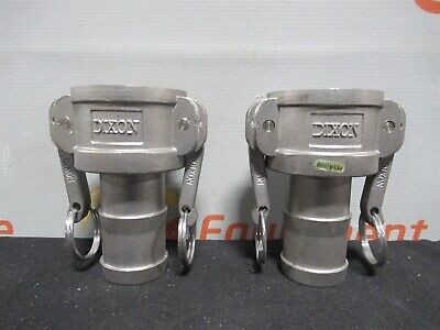 "Dixon C-150 316 Cam & Groove Type C Coupler Hose Shank 1/2"" Lot of 2 New"