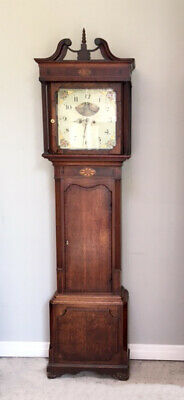 Antique Mahogany Longcase Grandfather Clock Thomas Richardson Weaverham