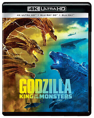 Godzilla: King of the Monsters (2019) (4K + 3D + Blu-ray) (Region Free) (New)