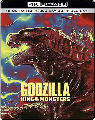 Godzilla: King of the Monsters (4K + 3D + Blu-ray) (STEELBOOK)(Region Free)(New)
