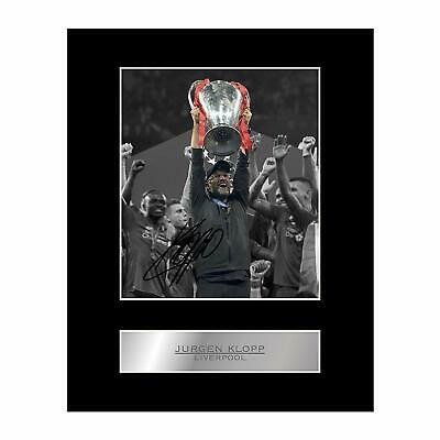 Jurgen Klopp Signed Mounted Photo Display Liverpool FC Champions League #1