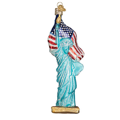 """Statue of Liberty"" (10181)X Old World Christmas Glass Ornament w/OWC Box"