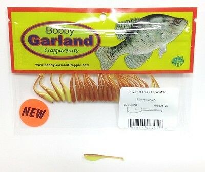 """Bobby Garland 1.5/"""" Crappie Shooter CS311 Lights Out 45 Count"""