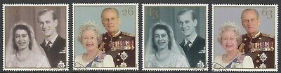 GB Stamps 1997, Royal Golden Wedding, set of 4 Very Fine Used, S/G 2011-2014