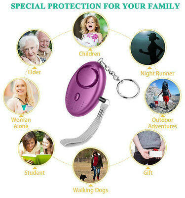 Loud Personal Night Out Safety Alarm Keychain Emergency Security Alarms with LED