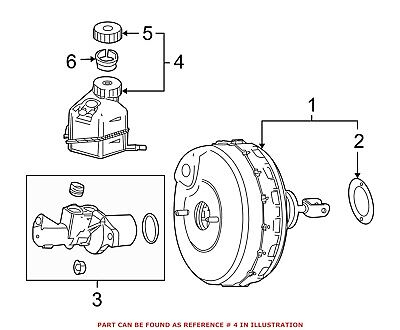 Mercedes-Benz 300CE Brake Master Cylinder Reservoir 0024310802 Genuine