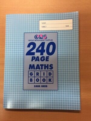 GNS 5mm Grid Book 225 x 175mm 240 Page 33728