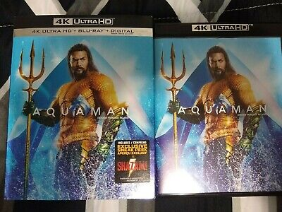 Aquaman 4K UHD + Blu-ray with Slipcover. 2-Disc Set.