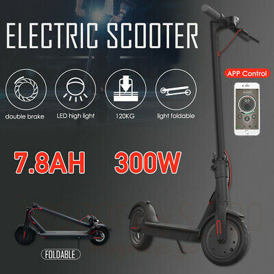 Electric Scooter 300W Foldable Commuter Bike App Control Phone Holder Modern