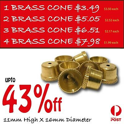 Bonza Cone Pieces - 7 X Brass cone Piece - brass smoking pipe bong - Bong