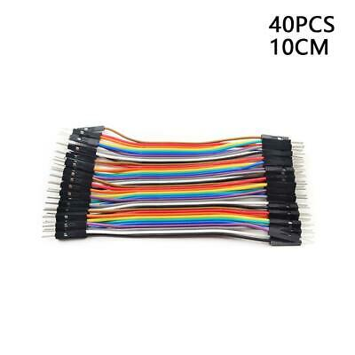40pcs/lot Dupont Male To Male Jumper Wire Ribbon Cable -for-Breadboard-Ardu X7I3
