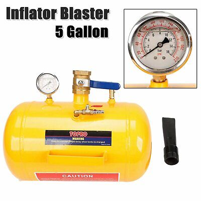 5 Gallon Air Tire Bead Seater | 145PSI Blaster Tool Seating Inflator w/ Gauge
