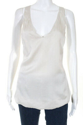 79d7454a854695 Emerson Thorpe Womens Crossed Back V Neck Tank Top Silk Size Small