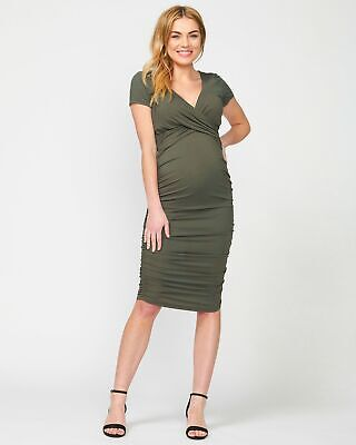 b1a89be030631 DONNA MORGAN FOR A Pea in the Pod maternity / nursing wrap dress ...