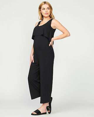 Pea in a Pod Harlow Jumpsuit in Black Maternity Pregnancy Clothing