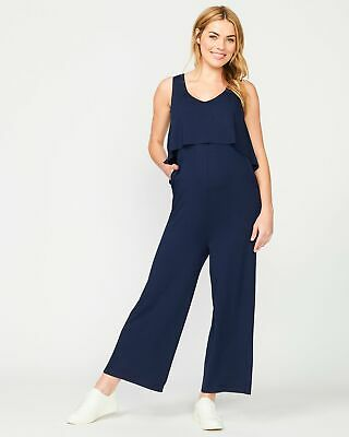 Pea in a Pod Harlow Jumpsuit in Navy Maternity Pregnancy Clothing