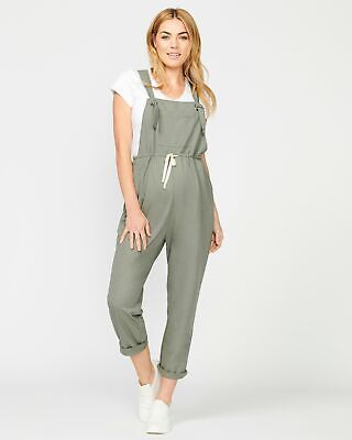 Pea in a Pod Sara Jumpsuit in Sage Maternity Pregnancy Clothing