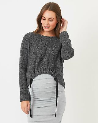 Pea in a Pod Emerson Jumper in Charcoal Maternity Pregnancy Clothing