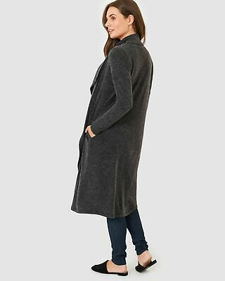 Pea in a Pod Hanna Longline Cardigan in Charcoal Maternity Pregnancy Clothing