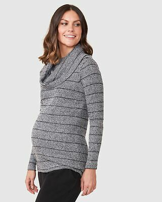 Pea in a Pod Kamryn Jumper in Charcoal Maternity Pregnancy Clothing