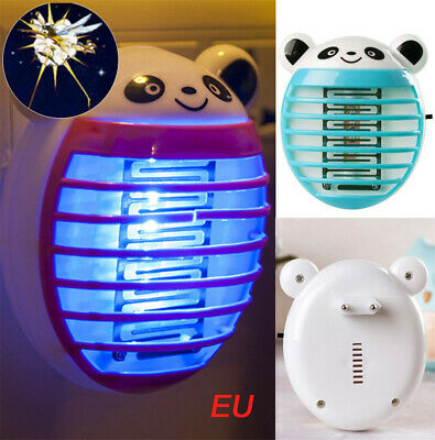 LED Socket Electric Mosquito Killer Fly Bug Insect Trap Zapper Lamp EU Plug