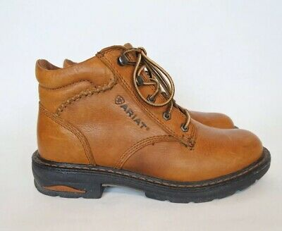 8764d54611c ARIAT WOMEN'S 7.5 B Macey Brown Leather Comp Toe Lace Up Work Boots ...